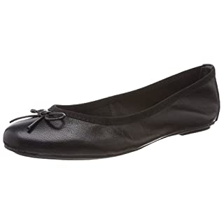 Tamaris Damen 22165 Geschlossene Ballerinas, Schwarz (Black Leather), 39 EU