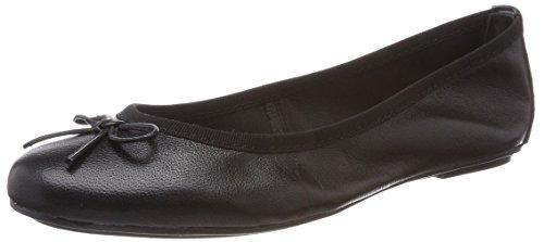 Tamaris Damen 22165 Geschlossene Ballerinas Schwarz (Black Leather) 40 EU