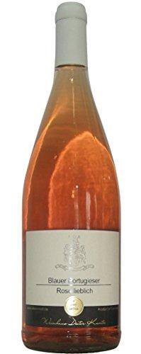 6 x 1,0 L Rosewein Portugieser lieblich Literflasche 2014 vom Weingut Kuntz aus Gutsabfüllung