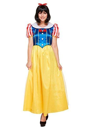Emmas Garderobe Snow Princess Kleid Kostüm Prinzessin Frauen Märchen Halloween-Kostüm - Made UK Größen 8-16 (Women: 34) (Storybook Belle Kostüm)