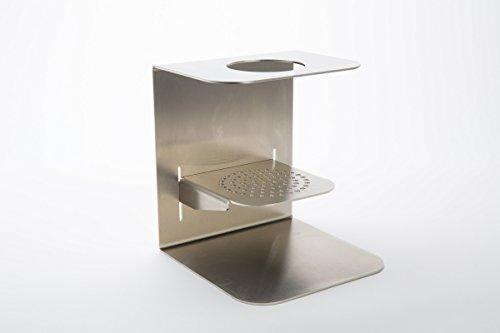 Exklusive Kaffee-Handfilter-Halterung aus Edelstahl mit verstellbarem Boden für verschieden Tassengrößen, Kaffeekannen Permanent-Porzellan-Kaffeefilter, Handfilter- Halter