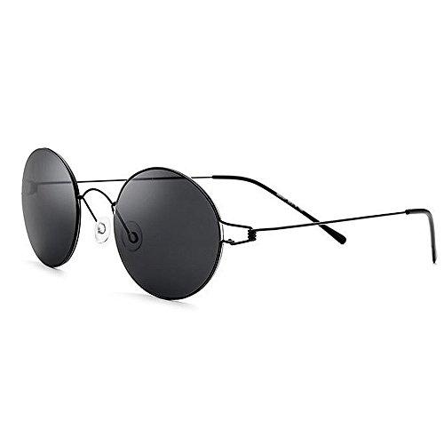 Ppy778 Randlose polarisierte Sonnenbrille der Männer UV400 für das Fahren des Fischen-Golfs im Freien (Color : Black)