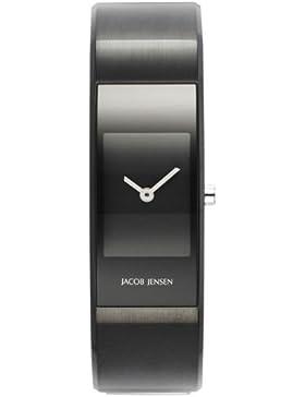 JACOB JENSEN Damen-Armbanduhr Analog Quarz Edelstahl ECLIPSE ITEM NO. 453