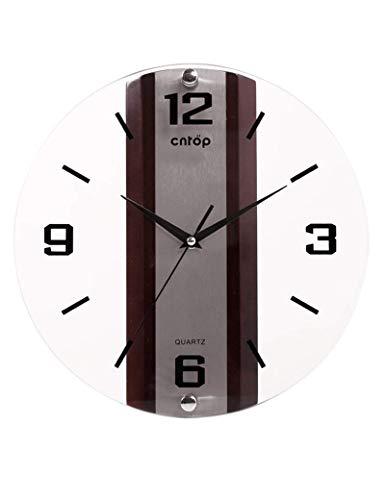 XQY Glocke-Wanduhr Metall Genaue Runde Glas Europäischen Minimalistischen Kreative Schlafzimmer Büro -1 X AA Batterie (Nicht Enthalten),A