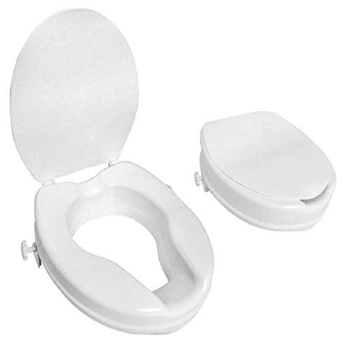 Toilettensitzerhöher Toiletten-Sitzerhöhung Toilettenhilfe WC mit Klappdeckel 10cm