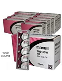 1000 pc Maxell SR616SW 321 SR65 SR616 Silver Oxide Watch Battery