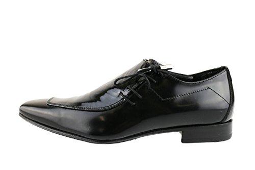 CARLO PIGNATELLI classiche uomo nero pelle vernice AH736 (41 EU)