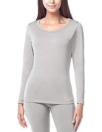 5619dd667741 LAPASA Women's Thermal Underwear Top Only Warm Lightweight Thermal  Underwear Long Sleeve Top L15