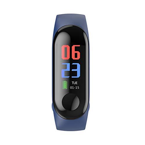 perfk 1 Pieza Pulsera Reloj Inteligente de Arterial presión con Pantalla para M3C Monitor Elegante - Azul