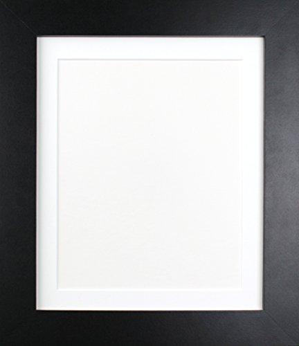 Frames By Post Schwarz Foto Bild Poster Rahmen mit weißem Passepartout, holz, 39mm Frame, 6