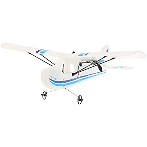 Goolsky TW-781 Mini RC Avión Cessna 2.4G 2Canales 200mm Envergadura EPP Control Remoto Infrarrojo Drone Interior Aviones RTF