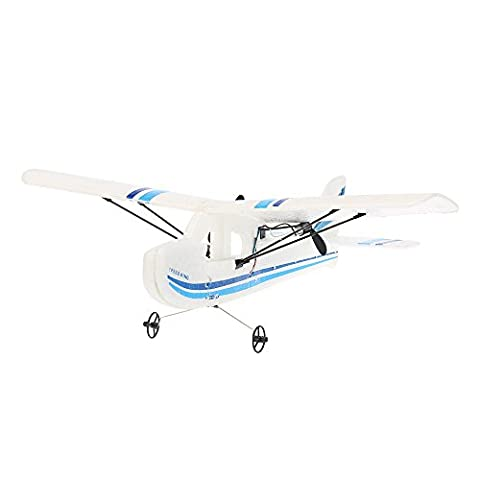 GoolRC Mini Remote Control Airplane RTF RC Aircraft Drone with 2.4G 2CH Control RC Flying Aircraft for Indoors/Outdoors Flight Toys(Blue)