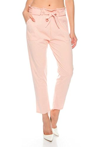Fashionflash - Pantalón - Pantalones - para Mujer Rosa Talla única