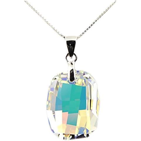 Collana in Argento 925 con Swarovski Elements 'Aurore Boreale' - Aurora Collana