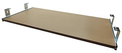 Ahorn Runde Tisch (FIX&EASY Tastaturauszug mit Tastaurablage 800X300mm Ahorn Dekor, Auszugschienen verzinkt 300mm, Set Ablage mit Auszug für Tastatur Maus Keyboard Laptop)
