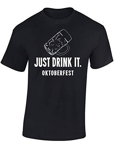 19f68b64518fc4 T-Shirt  Just Drink It - Oktoberfest Tee-Shirt en allmand
