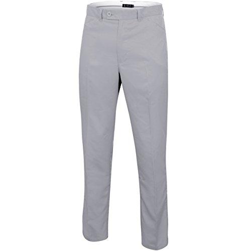 Island Green Herren IGPNT1855 Mens Tapered Trouser Hose, Silbergrau, 38L Performance Golf Hosen