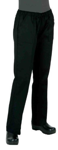 Chef Works WBLK-000 Women's Chef Pants, Black, Size 2XL by Chef Works -