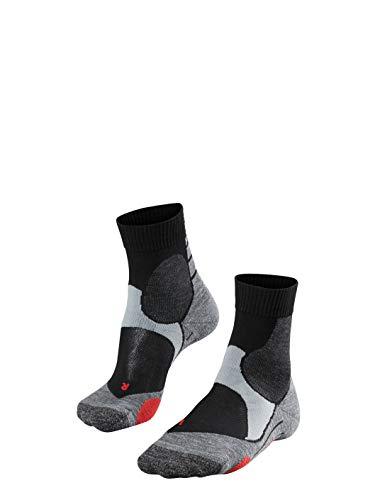 FALKE Unisex Socken BC3 Short, Baumwollmischung, 1 Paar, Schwarz (Black-Mix 3010), Größe: 42-43