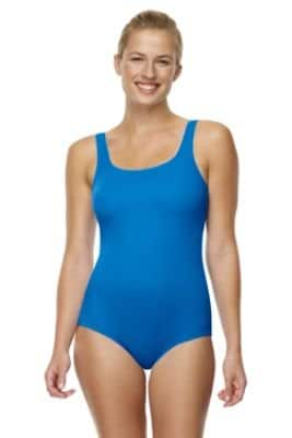 Women's Plus Tugless Swimsuit with soft cup bra (UK Size 20, DARK AZURE , 368233)