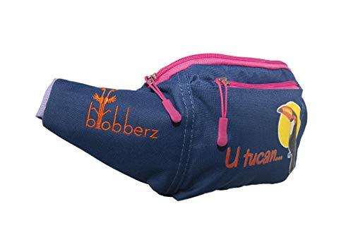 blobberz Bauchtasche Hüfttasche Gürteltasche Umhängetasche fanny bag kompakt leicht oudoor indoor Sport Reisen blau Parrot Hands Free