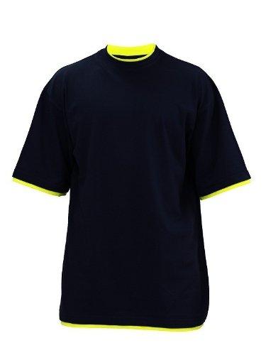 Urban Classics TB029A Herren T-shirt Bekleidung Contrast , Grey/White