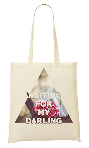 the best attitude 2275d 6202c Waiting my darling Romantic Flowers Roses Cool phrases collection Bolso De  Mano Bolsa De La Compra
