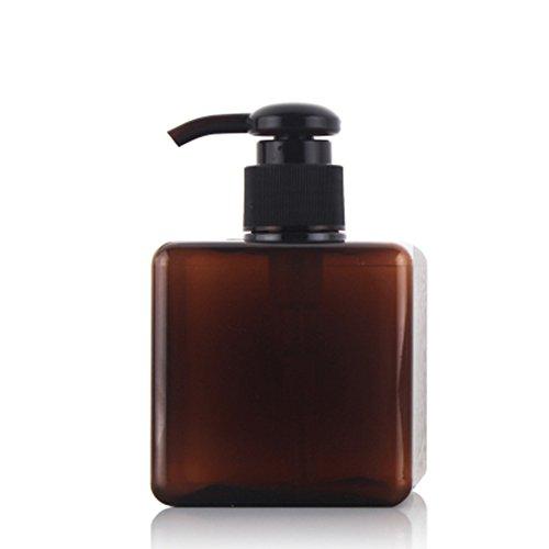1pcs 250ml quadrato in plastica Bottiglia vuota Cosmetic flacone spray con pompa per dispenser di (Dispenser Di Sapone Fine)