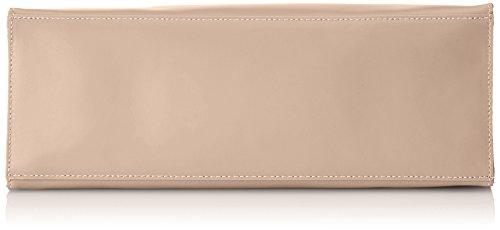 CTM Borsa a Mano da Donna con sacca interna removibile, vera pelle made in Italy - 38x30x15 Cm Rosa