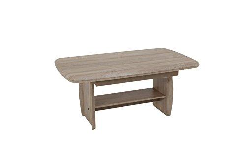 Couchtisch Funktionstisch Tisch Dirk höhenverstellbar ausziehbar Sonoma Eiche