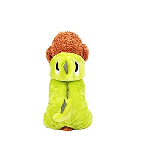 XIAHE Haustier Hund Katze Welpe Halloween Weihnachten lustige Jacke Jacke Kürbis Cosplay Kostüm Halloween kleines Haustier Teleskop-Zuggurt für Haustiere (Farbe : Green, größe : ()
