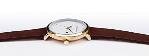 Alexander Gray Damenuhr - Vergoldete Armbanduhr Modell VENEZIA mit weichem Lederarmband und ultradünnem Gehäuse – zeitloses Design für jeden Anlass - 2