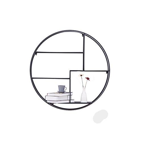Runde Etagere Rack (AJZGF Paramètres du produit: Nom du produit: étagères Matériel: Métal Forme: hexagonale, ronde Taille: 82x82cm 82x72cm Couleur: noir Style de positionnement: Art Style Style: minimaliste moderne Regal ( Farbe : Runden ))