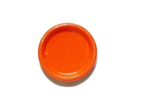 Amscan International - 552284 - 05 - Placa de plástico, color naranja, 17,7 cm)