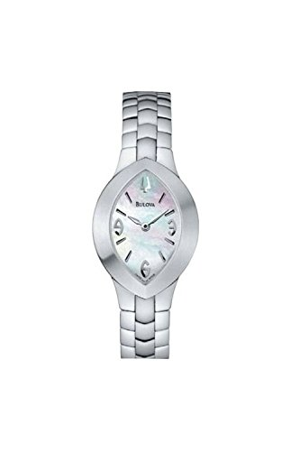 Ladies Watch 63L47 BULOVA Steel Strap Almond