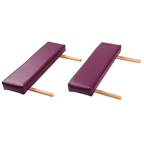 3B Scientific Armstützen mit Holzhalterung, bordeux