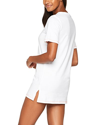 Iris & Lilly Damen Nachthemd Basic Weiß (White)