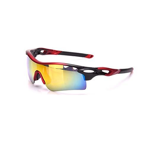 Polarisierte Sonnenbrille mit UV-Schutz Sport-Sonnenbrillen Set 3pcs Wechselobjektive UV400 Schutz Fahren Radfahren Laufen Angeln Golf Superleichtes Rahmen-Fischen, das Golf fährt ( Farbe : Schwarz )