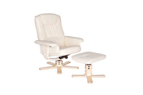 Amstyle Comfort Relaxsessel mit Hocker