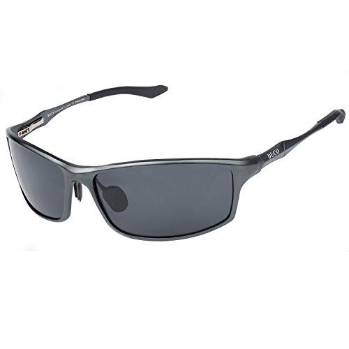 DUCO Herren Sportbrille Polarisierte Sonnenbrille Fahrerbrille 8201 (Gunmetal)
