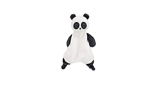 Mamas /& Papas Super Soft Black /& White Textured Jersey Comforter Suitable from Birth Panda