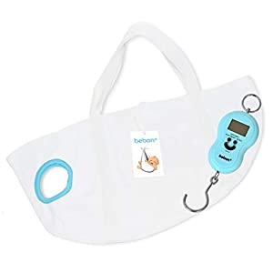 bebon® Babywaage – Waage für Neugeborene, Säuglinge und Babys – Wiegen wie die Hebamme