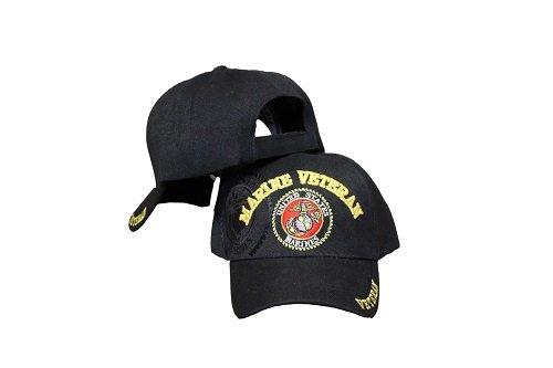 nero-us-marines-veteran-ricamato-sfera-cap-berretto-regolabile