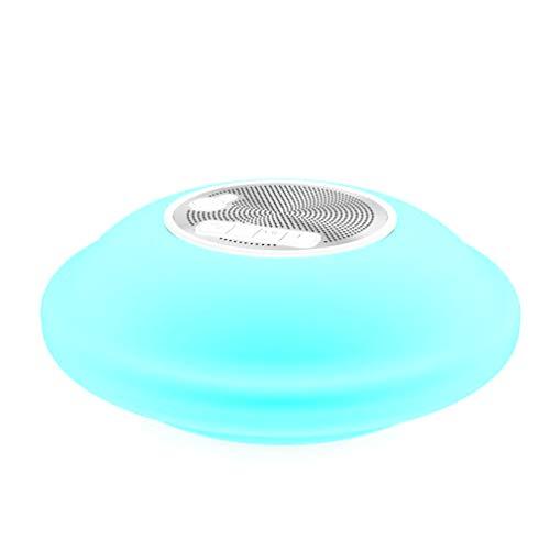 BOHENG Bluetooth-Lautsprecher, Bunte Blare, wasserdicht, schwimmend auf dem Pool, Outdoor-DREI-Proof, Knopf-Bedienung, eingebaute Lithium-Batterie, 1800mAh, Plastikgehäuse