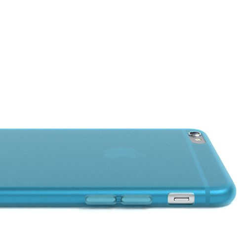 """EAZY CASE Handyhülle für Apple iPhone 6S Plus, iPhone 6+ Hülle - Premium Handy Schutzhülle Slimcover """"Clear"""" hochwertig und kratzfest - Transparentes Silikon Backcover in Klar / Durchsichtig Matt Hellblau"""