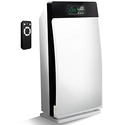 Gridinlux. Purificador y Generador de Ozono e Iones Inteligente. 4 Filtros, Ultravioleta, Pantalla Táctil...