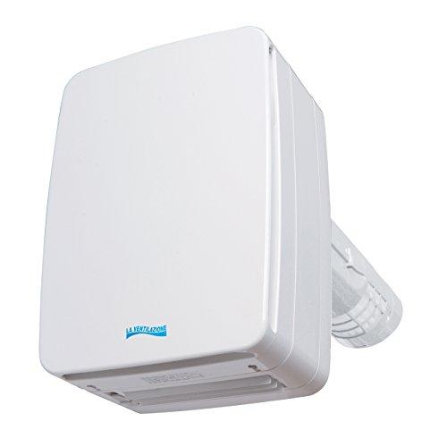 La ventilation v-eco100p Récupérateur de chaleur à double flux, longueur 32cm