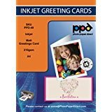 A4 Inkjet Greeting Card Paper 210g (MATT) x 50 sheets. With Envelopes Pack