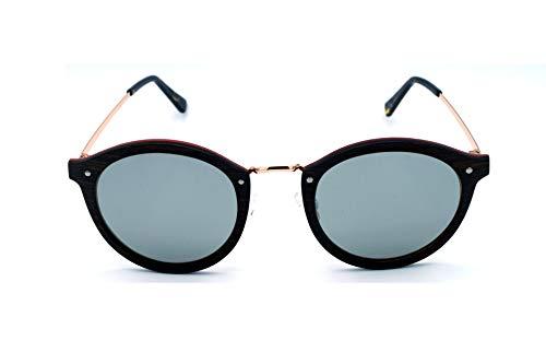 Vagance Edle Echtholz Sonnenbrille aus Rosenholz, Sadelholz und einem Rahmen in Rosegold