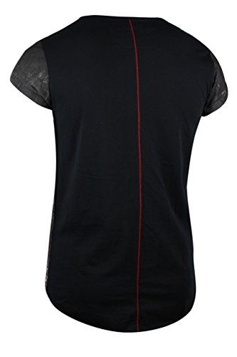 trueprodigy Casual Herren Marken T-Shirt mit Aufdruck, Oberteil cool und stylisch mit V-Ausschnitt (kurzarm & Slim Fit), Shirt für Männer bedruckt Farbe: Schwarz 1072136-2999 Black